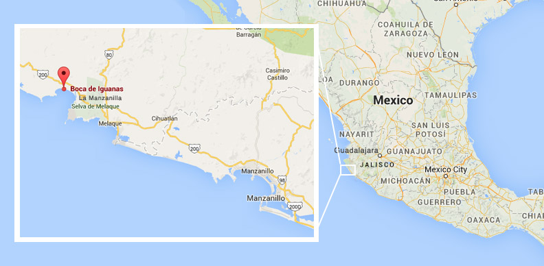 Careyes Mexico Map.Getting Here Coconuts By The Sea